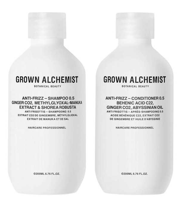 The Absolute Best Frizz-Fighting Hair Products: Grown Alchemist Anti-Frizz Haircare Twin Set Shampoo + Conditioner | Hair Care 2017