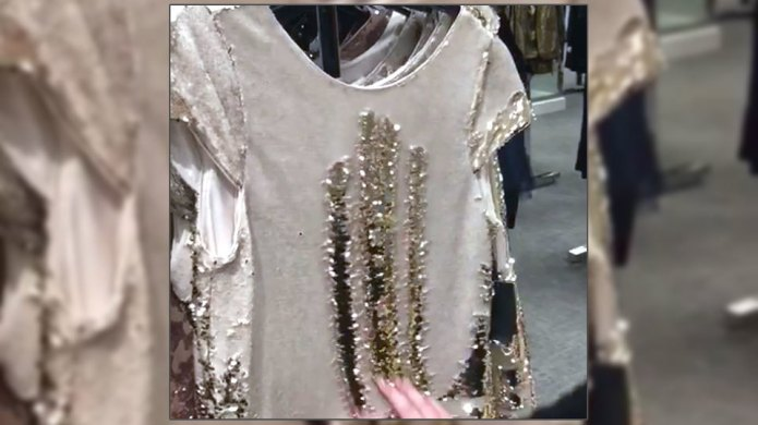 Reversible, colour-changing sequin dress will leave