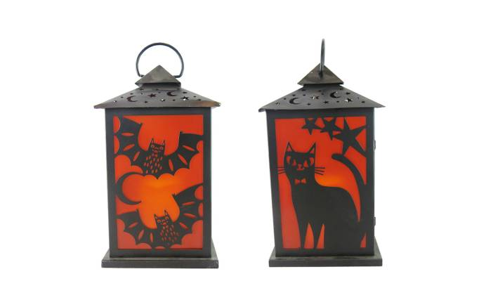 The 15 Best Target Halloween Decorations Under $20 | Hang these metal Halloween lanterns outside your house