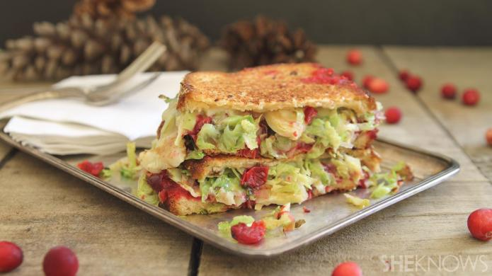 Brussels sprouts and cranberry grilled cheese