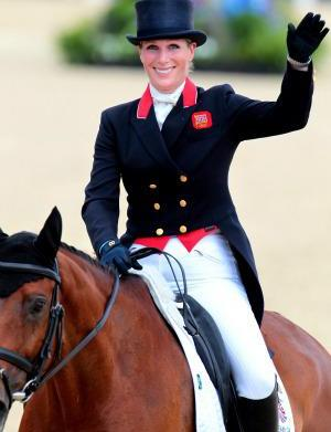 Royals cheer on cousin Zara Phillips
