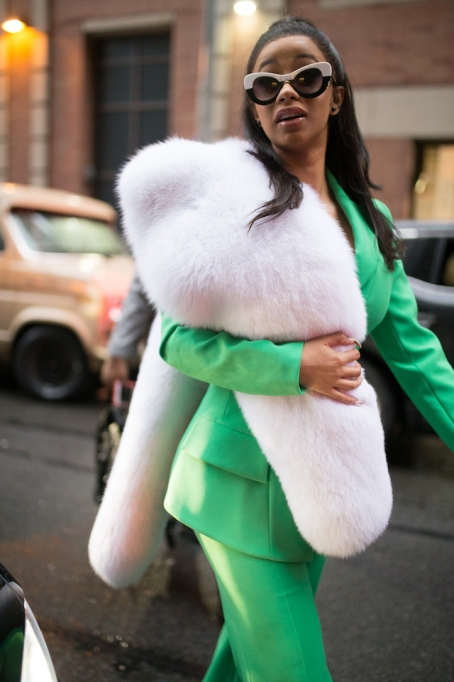 NYFW 2018 Celebrity Sightings: Cardi B