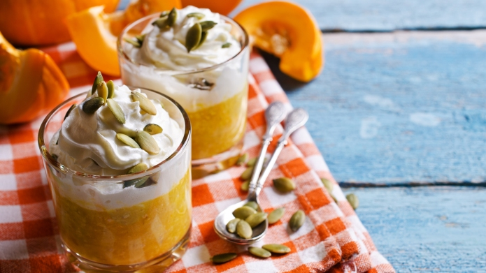 Dessert from the pumpkin and seeds