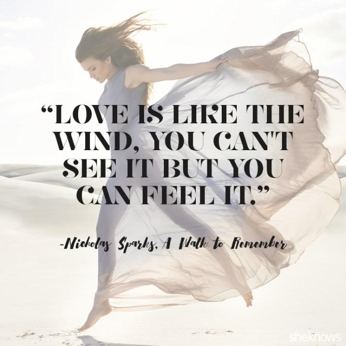 Nicholas Sparks love quote