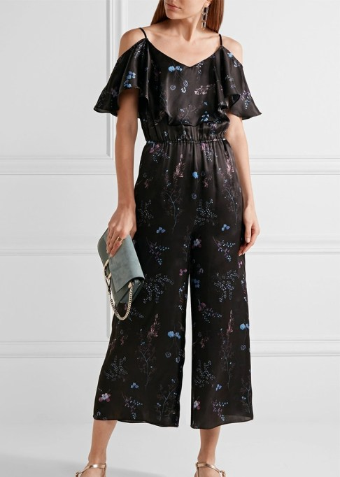 Best jumpsuits for the summer-to-fall transition: Rachel Zoe Houghton Ruffled Silk-Satin Jumpsuit | Fall Fashion 2017