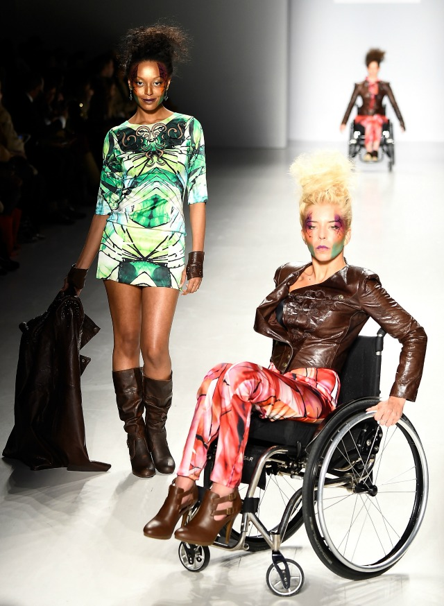 Model at Fashion Week in wheelchair