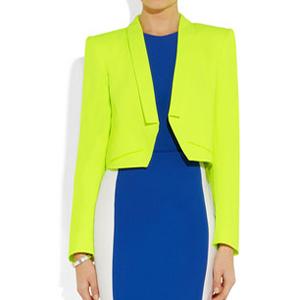 modern yellow blazer