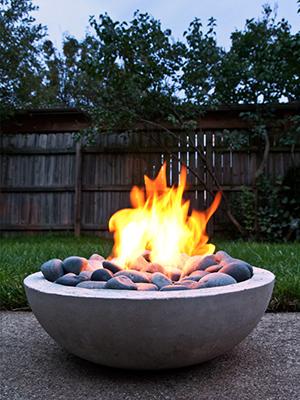 Concerete flower planter firepit   Sheknows.com