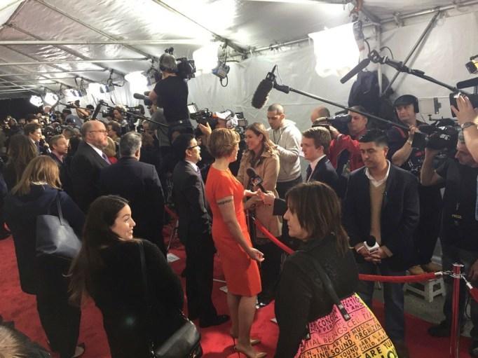 Kim Barker on the red carpet