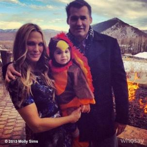 Molly Sims and son Brooks