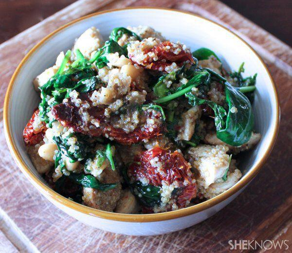 Sun-dried tomato protein power bowl