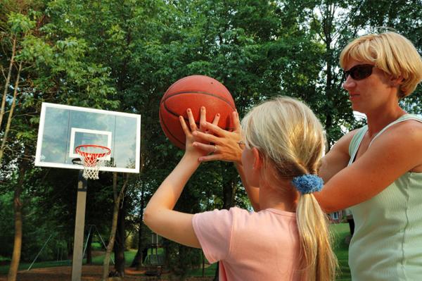 Mom and basketball coach
