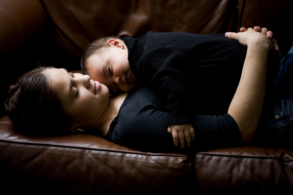 Mom and Toddler Napping
