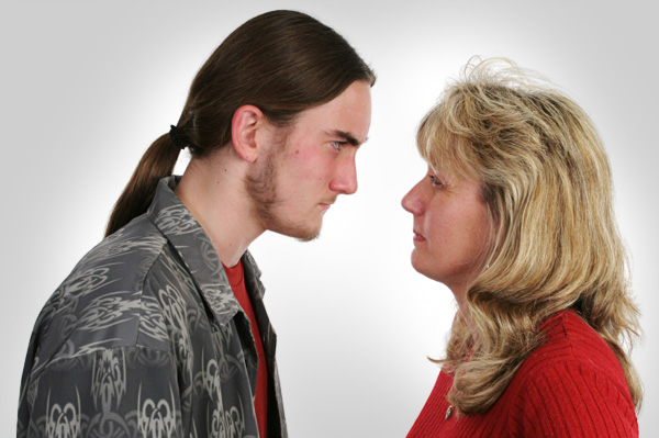 Mom Confronting Teenage Son