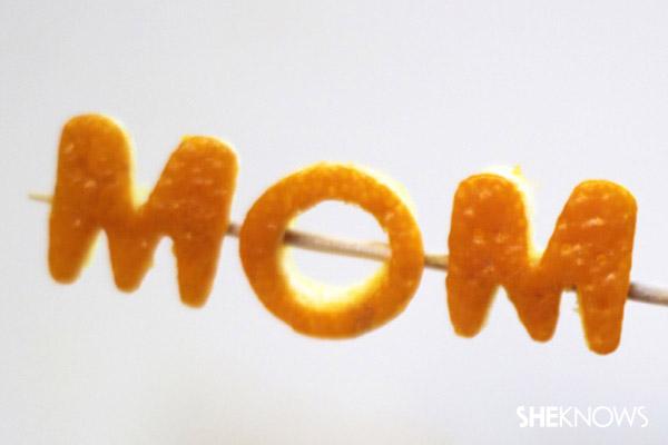 """""""MOM"""" on a toothpick"""