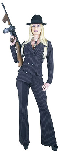 Sexy mobster costume