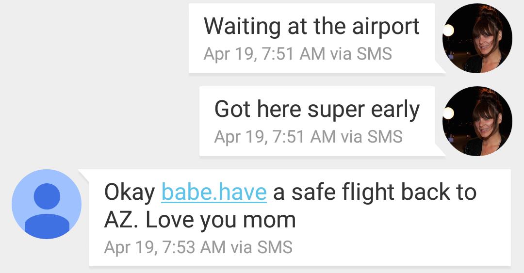 Mom text