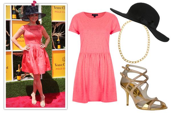 Tiffani Thiessen -- Pink dress