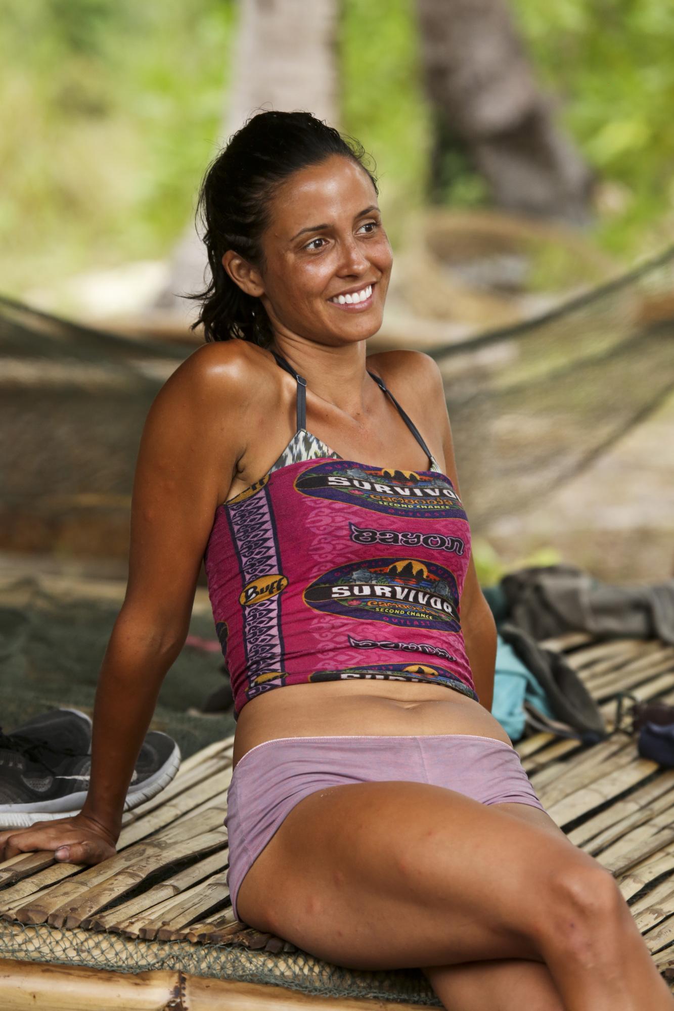 Monica Padilla at Bayon camp on Survivor: Second Chance