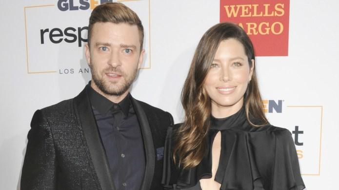 Justin Timberlake and Jessica Biel give