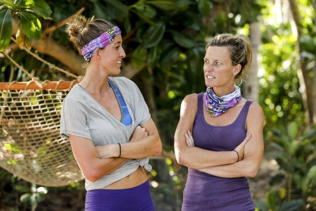Morgan Ricke and Angela Perkins on Survivor: Ghost Island