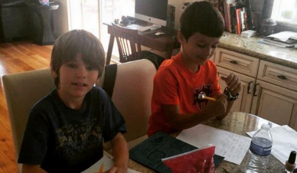 Brandi Glanville's sons