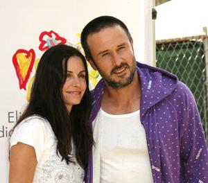 David Arquette and Courtney Cox