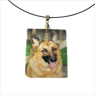 Mother of pearl photo necklace
