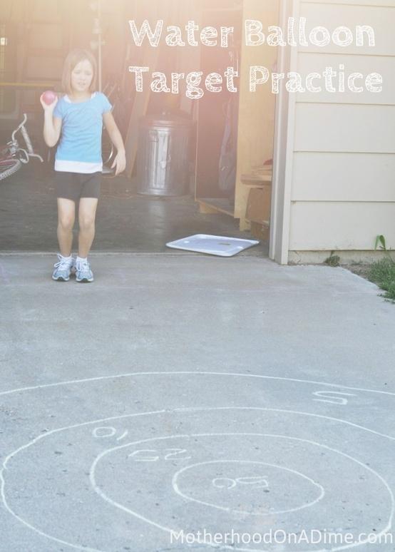 Water balloon target practice