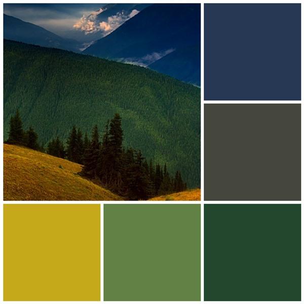 Mountain top color scheme