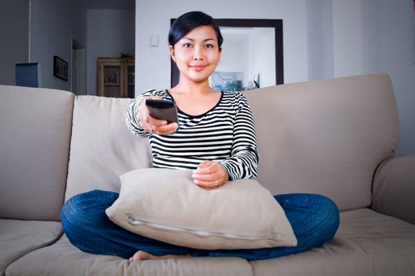 Woman Watching Movie