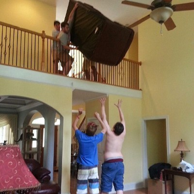 Casually toss a couch