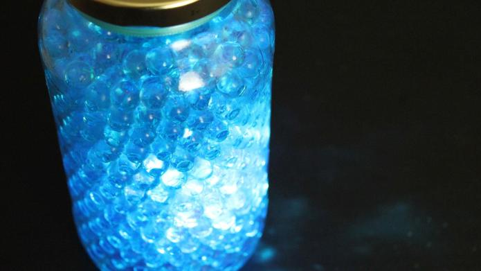 Make twinkle lights with a glass
