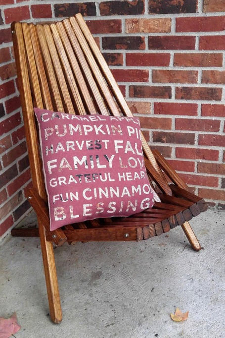 Etsy Decorating Trends: Extra Wide Patio Chair | Fall Decor