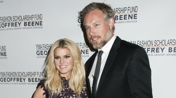 Jessica Simpson's husband gets oddly cozy
