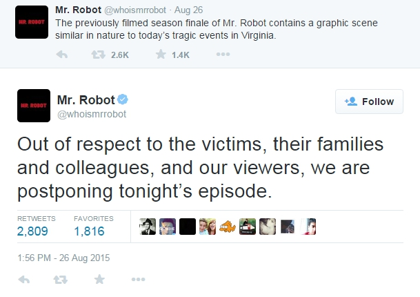 Mr Robot tweet