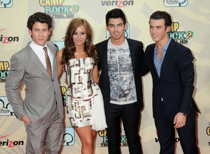 Demi Lovato and the Jonas Brothers