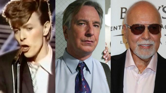 David Bowie, Alan Rickman, René Angélil