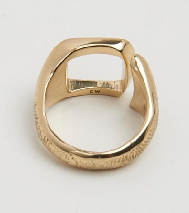 Chunky Jewelry Is Making a Comeback: Cornelia Webb Model Cutout Signet Ring | Fall Style 2017