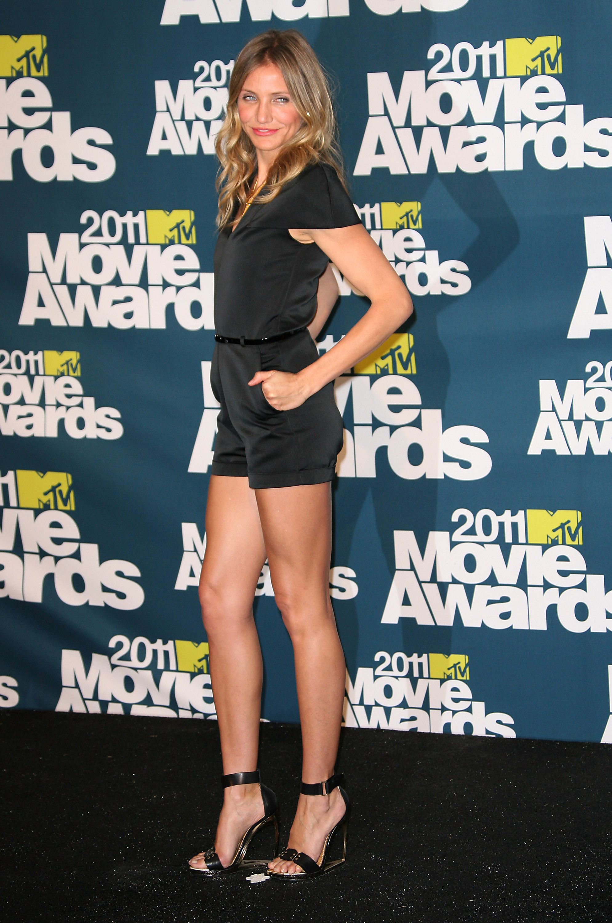 Cameron Diaz at MTV Movie Awards: Phillip Lim rompe