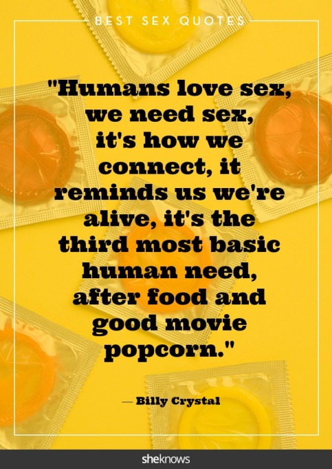 Steamy celebrity sex quotes: Billy Crystal
