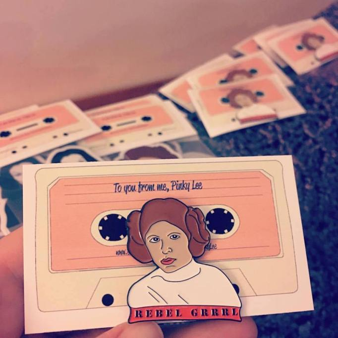 Princess Leia Rebel Grrrl Lapel Pin