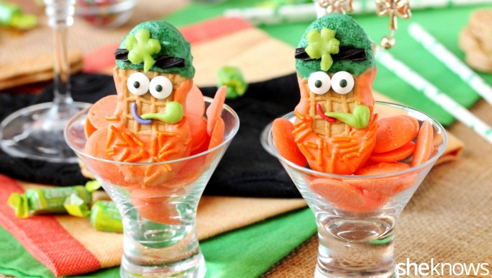 St. Patrick's Day leprechaun cookie treats