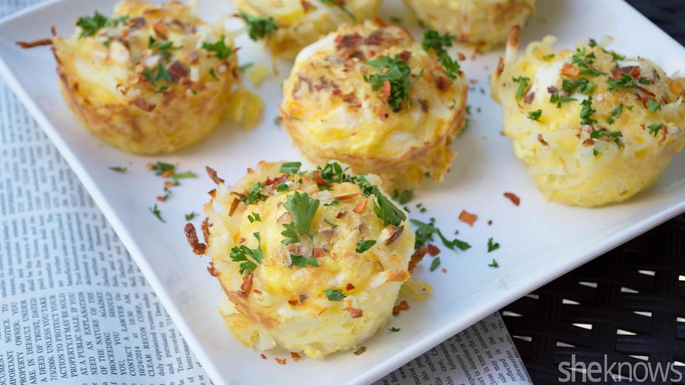 bacon egg hash brown muffins