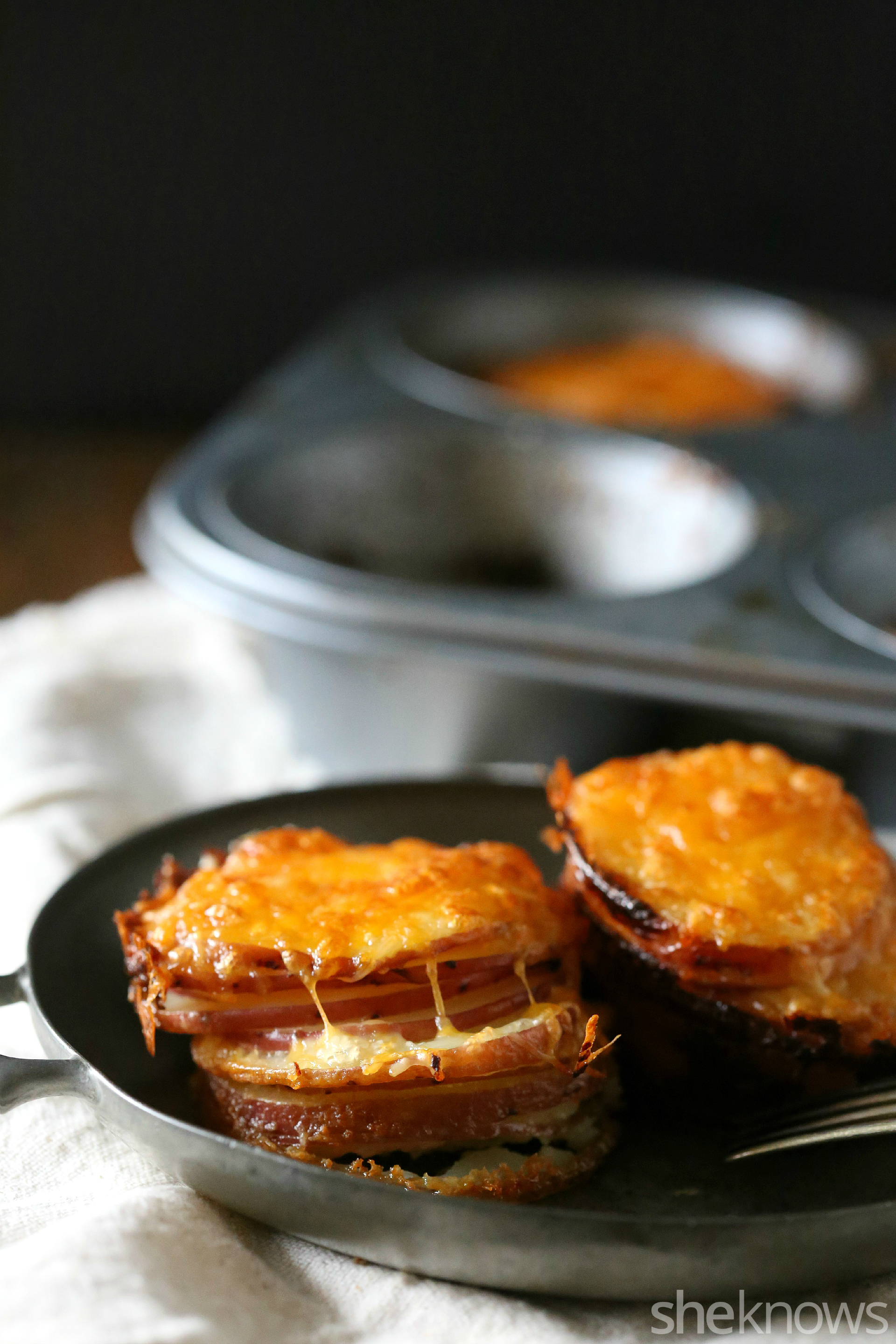 muffin tin potato gratins