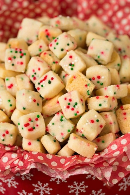 Popular Pinterest Cookies: Mini shortbread cookies look delightful on a buffet table