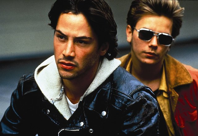 Still of Keanu Reeves and River Phoenix in 'My Own Private Idaho'