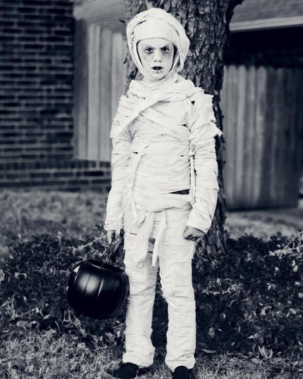Mummy bedsheet costume