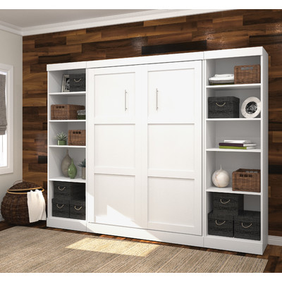 murphy bed with shelving