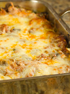 Mushroom, beef and sausage lasagna | Sheknows.com